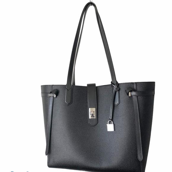Michael Kors large black shoulder tote purse bag